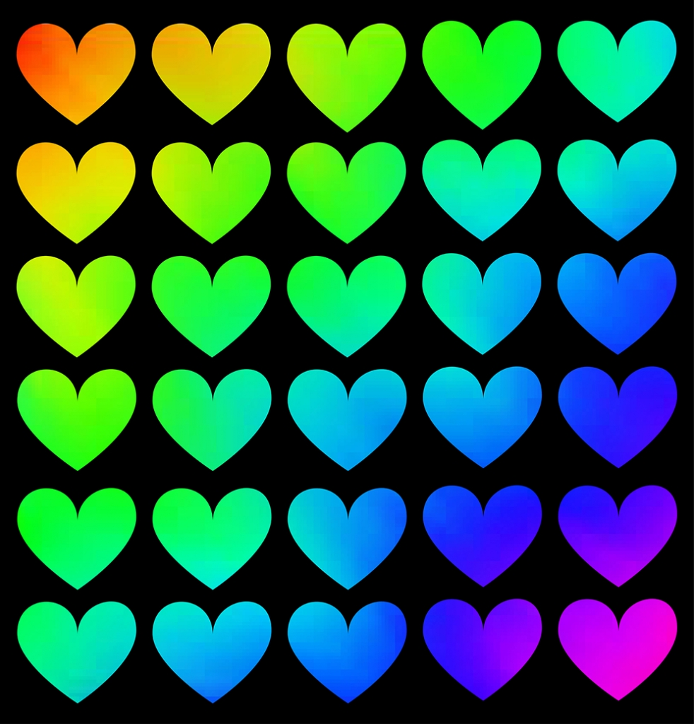 Rainbow Heart Pattern