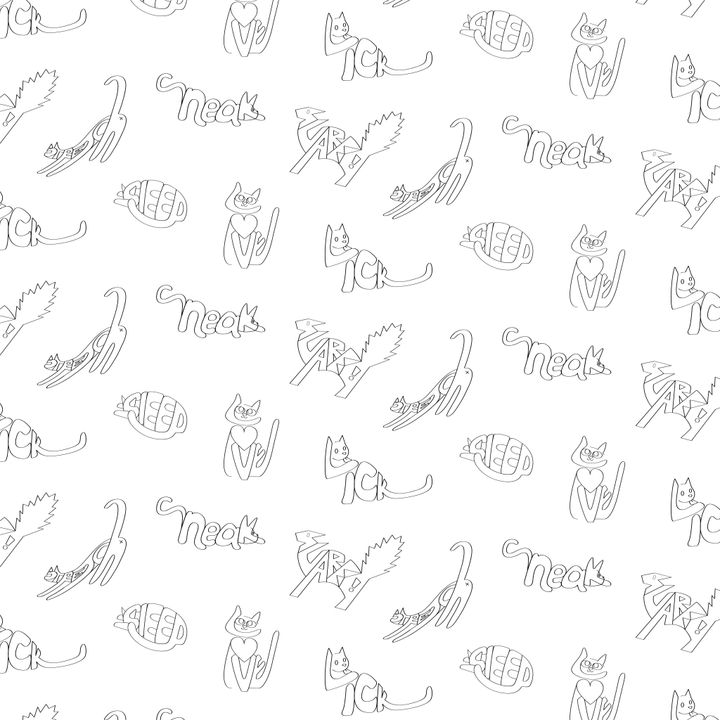 Cat Typo Pattern