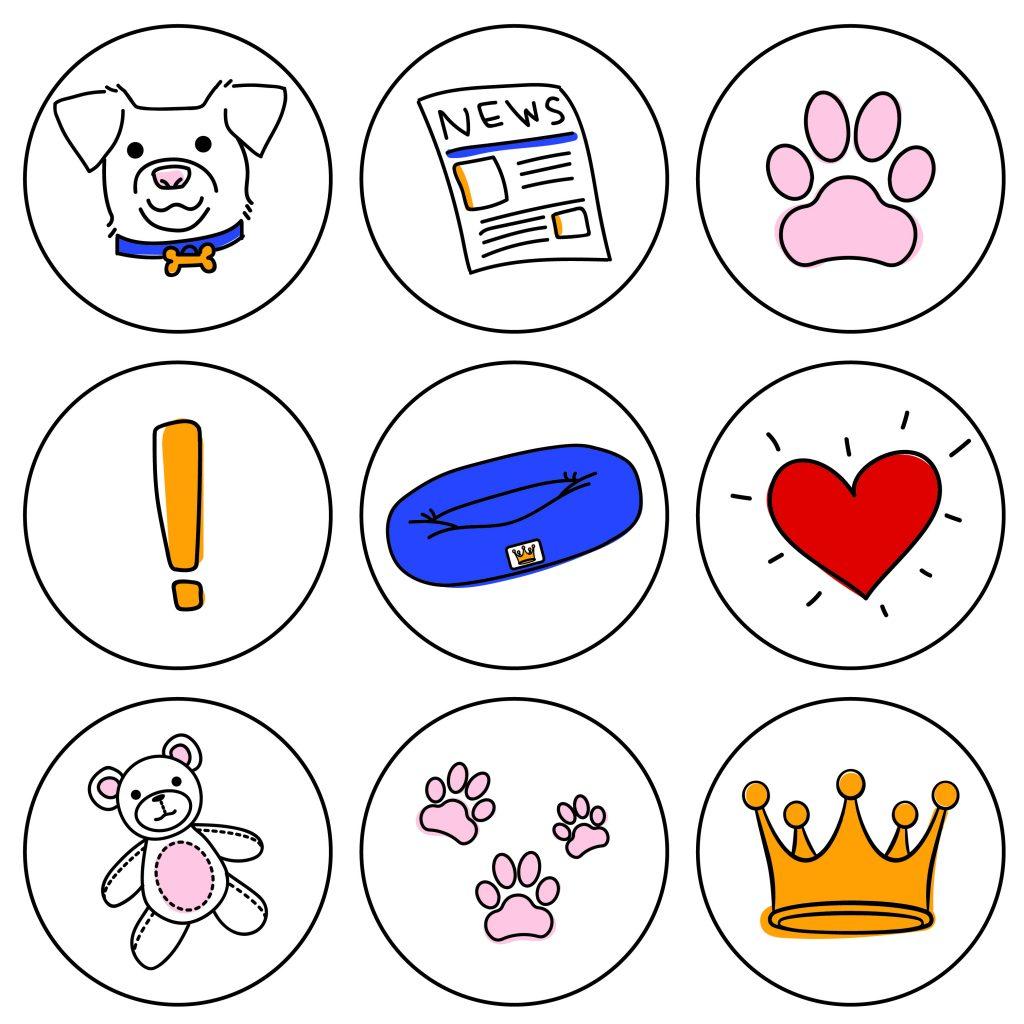 Pet Bed Social Media Icons
