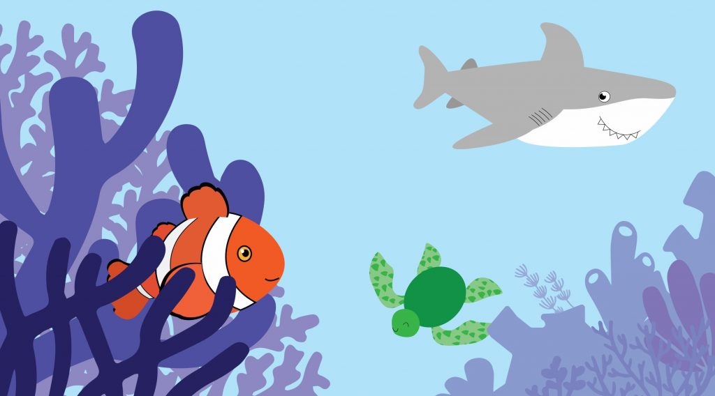 Sea Critters Package Illustration